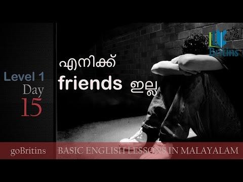 Spoken English in Malayalam- Level 1, Day 15
