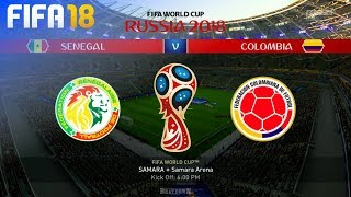 FIFA 18 World Cup - Senegal vs. Colombia @ Samara Arena (Group H)