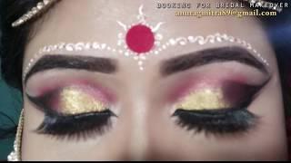 BENGALI BRIDAL/WEDDING MAKEUP (in bengoli)|| BRIDAL MAKEOVER BY CHAYANIKA MIT