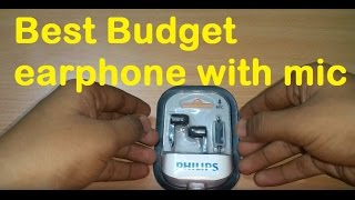 (Hindi)Best budget earphone with mic(under 350) REVIEW