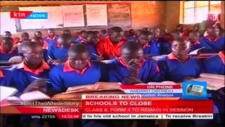 Education Specialist Andiwa Obondo responds to government closing schools