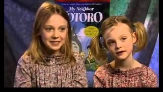 Dakota & Elle Fanning - My Neighbor Totoro - Rare Interview