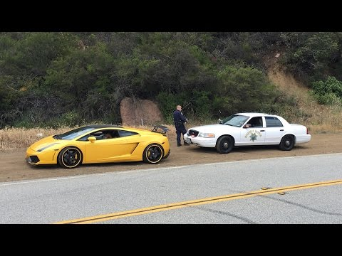 The CHP hates LOUD Lambos. Especially if they shoot FLAMES
