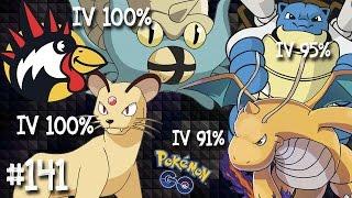 Evoluindo Omastar IV 100%, Persian IV 100%, Blastoise IV 95% e Dragonite IV91% Pokemon Go Brasil