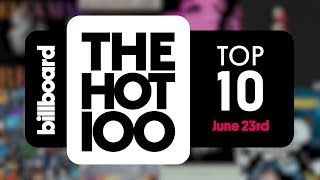 Early Release! Billboard Hot 100 Top 10 June 23rd 2018 Countdown   Official