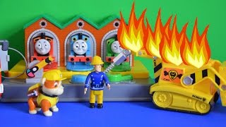 Thomas and Friends Episode Fireman Sam Rescue Paw Patrol Rubble Full Story