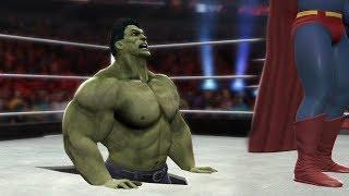 SUPERMAN VS HULK - I Quit Match
