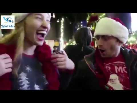 Xxx Mp4 Naked But Body Painted Christmas Girl Takes On Santacon NYC 2017 3gp Sex