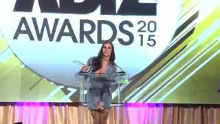 2015 XBIZ Awards - Kendra Lust Wins ''MILF Performer of the Year' Award