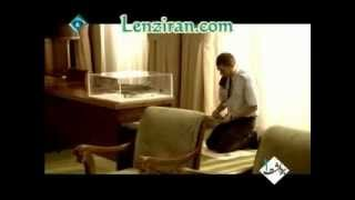 Footage of Iranian TV serial about American commander reaction to Shahid Babaei prayer in his office