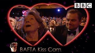 Leonardo DiCaprio and Dame Maggie Smith on Kiss Cam - The British Academy Film Awards 2016 - BBC One