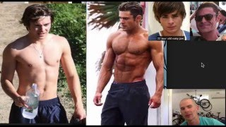 Zac Efron BEFORE AND AFTER MUSCLE GAINZ!