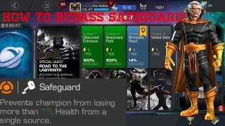 HOW TO COUNTER SAFEGUARD!!! || How to beat Road to the Labyrinth || Marvel Contest of Champions