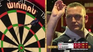 Darts World Masters 2016 Quarter Final McGeeney vs Edmunds