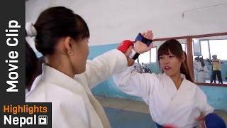 Karate Competition - Nepali Movie KHURPA Video Clips Ft. Sabin Shrestha, Sushma Adhikari