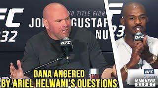 Jon Jones goes off on reporter over PEDs question; Dana vs Ariel Helwani; UFC 232 Press Conference