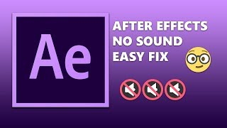 AFTER EFFECTS EASY AUDIO PREVIEW FIX