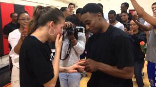 Love and Basketball proposal 2015 - Superman Johnson vs Breyschoice