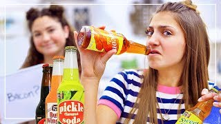 MYSTERY FOOD-FLAVORED DRiNKS CHALLENGE | Kamri and Piper