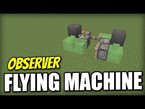 Minecraft Xbox - FLYING MACHINE  [ EASY ] Redstone Tutorial - PE / PS4 / PS3 / Wii U