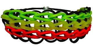 HOW TO MAKE A RAINBOW LOOM TRIPLE SINGLE BRACELET WITH RUBBER BANDS. TUTORIAL DIY.