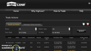 Close Binary Options Trades Early With HighLOW