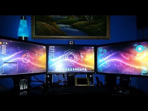 3D Triple Monitor Alienware Computer Gaming Set
