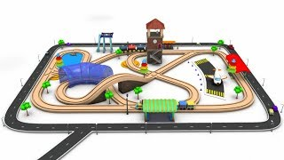Toy Train Videos for Children - train for kids - cartoon for kids - kids railways - Train