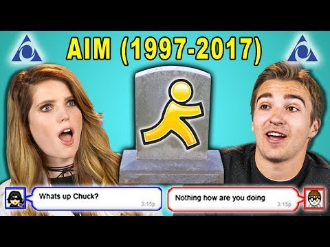 Xxx Mp4 ADULTS REACT TO THE DEATH OF AIM AOL Instant Messenger 3gp Sex