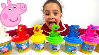 Peppa Pig Play Doh Toys for Kids to Learn Colors, Learn Colours with Peppa Pig Play Dough
