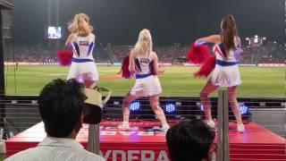 Live six from  mca studium Pune , Pune supergaint vs Delhi Daredevils , cheer girl dance