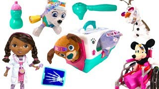 Best Learning Colors Video for Children  - Doc McStuffins Helps Paw Patrol Mickey Mouse