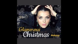 Glamorous Christmas Makeup -  Gold Glitter & Red/Nude Lips | Miss Marvadah