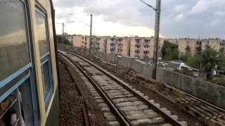 MRTS 6coach AC EMU climbing up ramp from MS Park town at 20kmph TSR