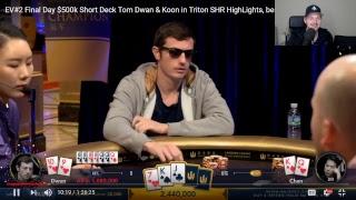 $500k Short Deck Highlights Final Table Dwan & Koon **RAIL/Learning