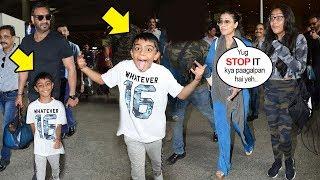 Kajol & Husband Ajay Devgan Get EMBARRASSED Of Son Yug Devgn