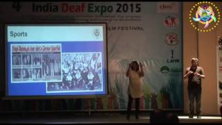 Sakeela's Lecture for Deaf Expo 2015 at Coimbatore, India