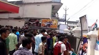 Anjaan Surya Fans celebration first day in Perumbavoor (ernakulam dist) aashirvad cinemas