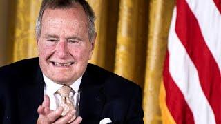 President George H.W. Bush makes one last journey to Washington