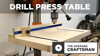 How to Make a Simple Drill Press Table