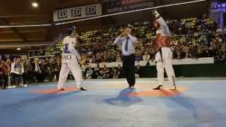 Best Taekwondo fight Aaron Cook VS Sebastian Cris - 80 KG