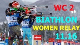 BIATHLON WOMEN RELAY 11.12.2016  World Cup 2 Pokljuka (Slovenia)