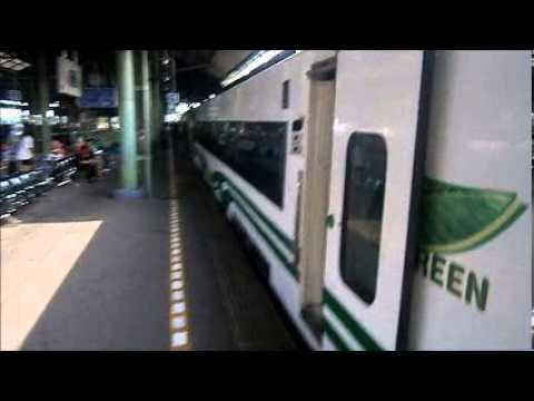Indonesian train vdeo and interior Taksaka Argo bromo anggrek goGreen
