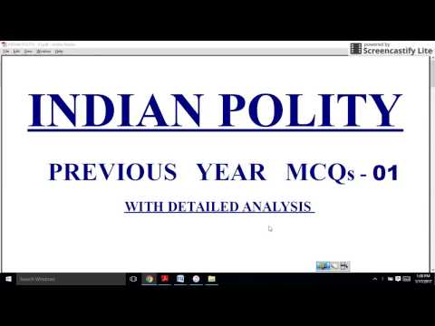 01 INDIAN POLITY MCQs UPSC PRELIMS 2017