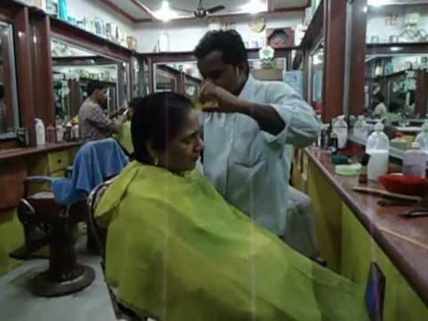 Aruna Sharma in Hair Salon Lanka Varanasi, India for Haircut Jan 15, 2013