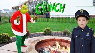 Christmas Grinch takes presents from silly kids video