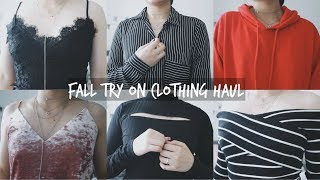 FALL TRY ON CLOTHING HAUL!