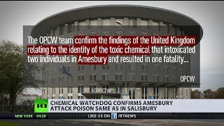 Chemical watchdog confirms Amesbury attack poison same as in Salisbury
