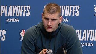 Nikola Jokic Postgame Interview - Game 6 | Nuggets vs Spurs | 2019 NBA Playoffs