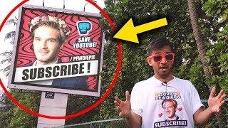 PewDiePie Billboards In INDIA   T-Series Vs PewDiePie
